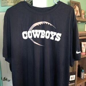 Bnwt Nike Dallas Cowboys drifit tshirt....sz. 2XL
